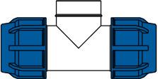 KPE idomok - belső menetes t-idom ábra