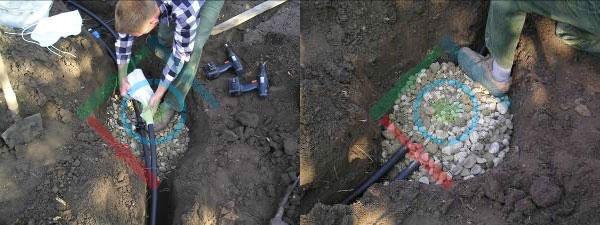Öntözőrendszer telepítés - az automata ürítőszelep felszerelés 2