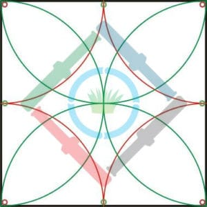 Öntözőrendszer tervezés elmélet - a szórófejek kihelyezése 2