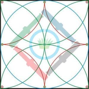 Öntözőrendszer tervezés elmélet - a szórófejek kihelyezése 3