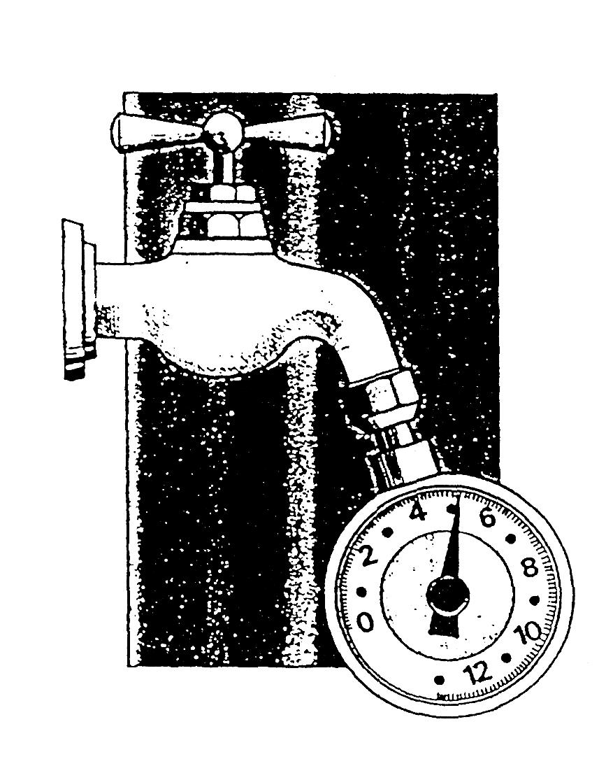 Nyomás és vízhozam mérés - vödrös módszer 1