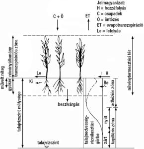 Ötözővíz jellemzői - a tér vízforgalma