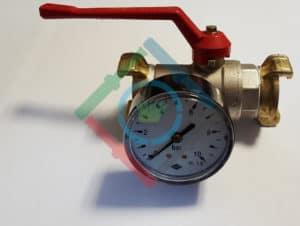 Nyomás és vízhozam mérés - vízkarakterisztika mérő óra fotó